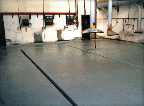 12. Bunded floor lining including gullys.