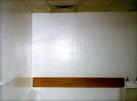 14. Seamless fibreglass wall lining.