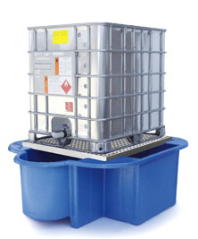 IBC Bund, Spill Pallet with drip tray, removable platform