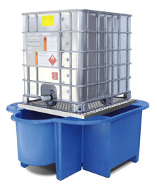 IBC Bund, Spill Pallet with drip tray, removable platform and forklift facility