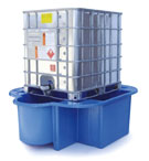 IBC Bund, Spill Pallet blue