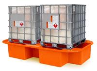 Double IBC Bund, Spill Pallet orange