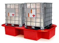 Double IBC Bund, Spill Pallet red