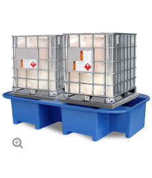 IBC Bund, Spill Pallet with Removable Platform and Forklift Facility.