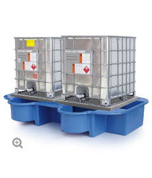 Double IBC Bund, with Drip Tray and Removable Platform.