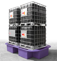 Double IBC Bund, Spill Pallet purple