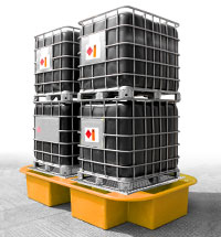 Double IBC Bund, Spill Pallet yellow