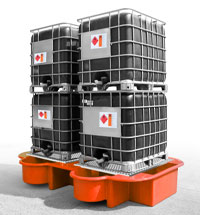 Double IBC Bund, Spill Pallet orange