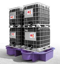 Double IBC Bund, Spill Pallet purple