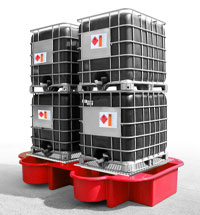 Double IBC Bund, Spill Pallet red
