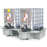 Economy 2 IBC Bund with drip trays