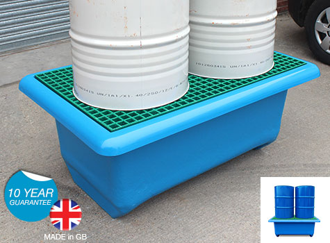 2 Drum Spill Pallet with forklift facility SG202-FL