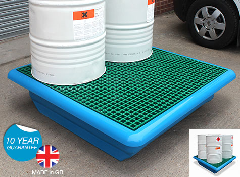 4 Drum Spill Pallet with forklift facility SG203-FL