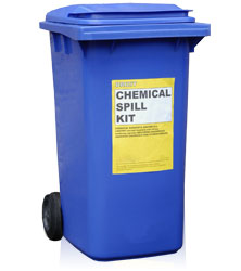 Chemical Spill Kit in heavy duty, water proof container