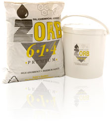 20 litre tub of Zorb oil absorbent