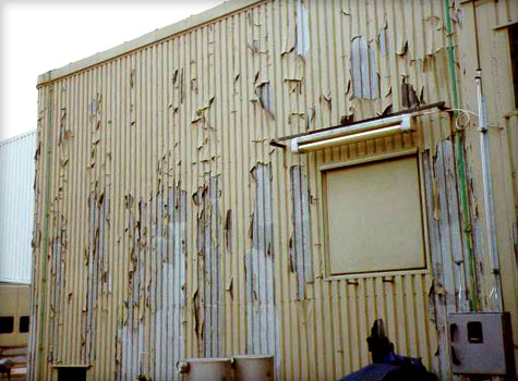 10. Cladding before cleaning
